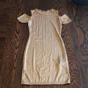 Boohoo Dresses - Gold Dress